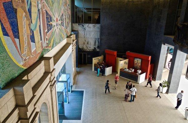 Entrée du Museo Nacional de Bellas Artes, janvier 2015